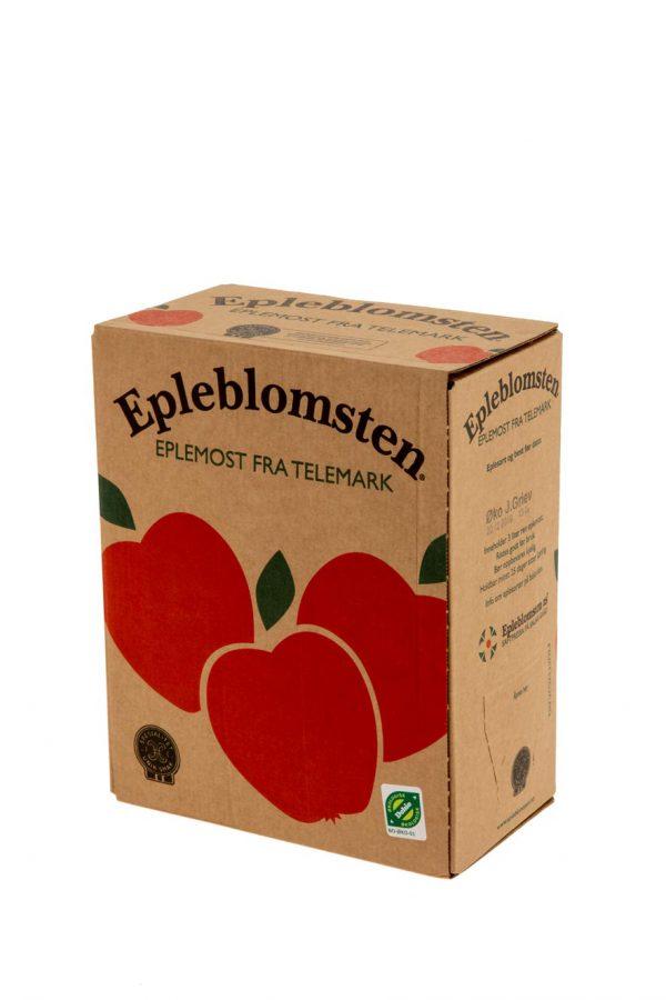 Økologisk eplemost 3L kartong